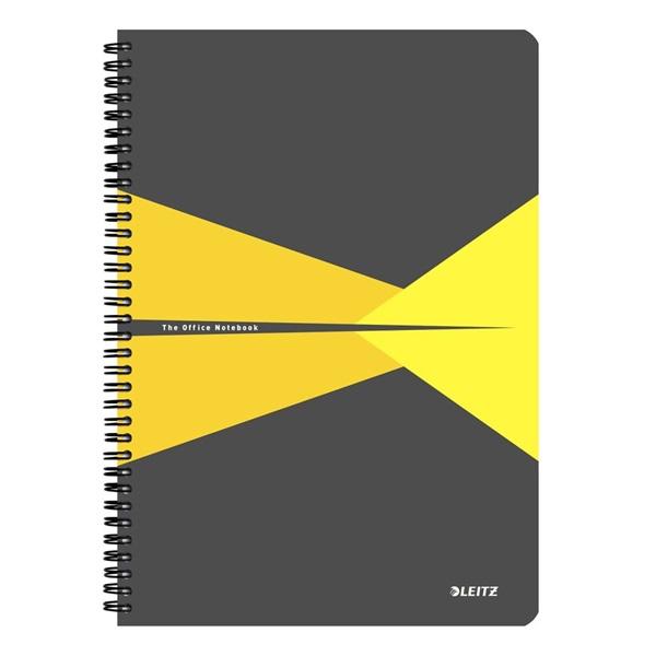 Leitz Office A4 kockás sárga spirálfüzet - 1