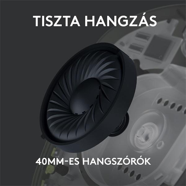 Logitech G435 Lightspeed Dolby Atmos 7.1 Surround Wireless fekete vezeték nélküli gamer headset - 2