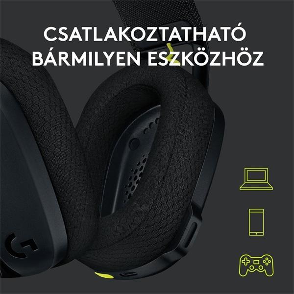 Logitech G435 Lightspeed Dolby Atmos 7.1 Surround Wireless fekete vezeték nélküli gamer headset - 7