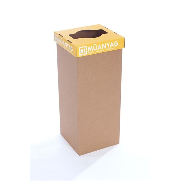 Office környezetbarát szelekt. kuka műanyaghoz sárga tető - 1