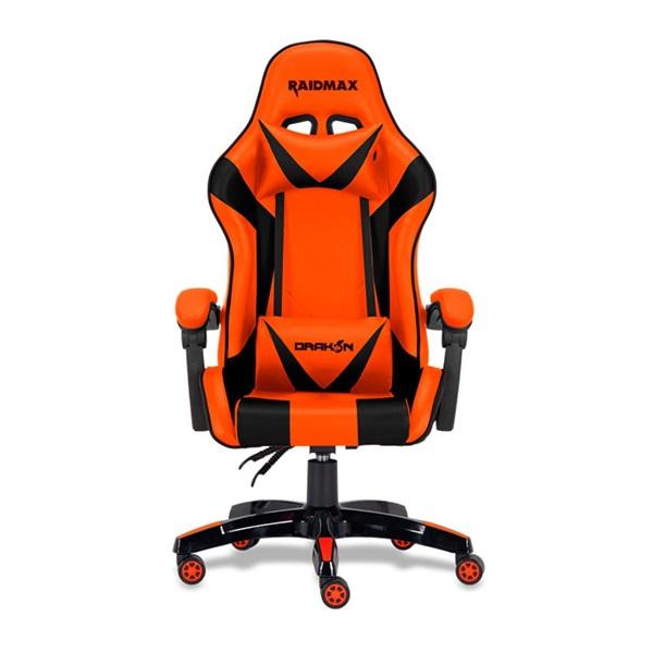 RAIDMAX Drakon DK602 narancs gamer szék - 1