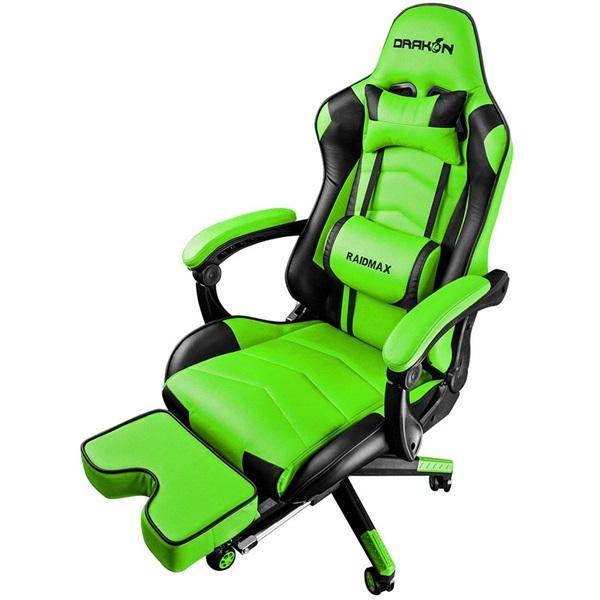 RAIDMAX Drakon DK709 zöld gamer szék - 1