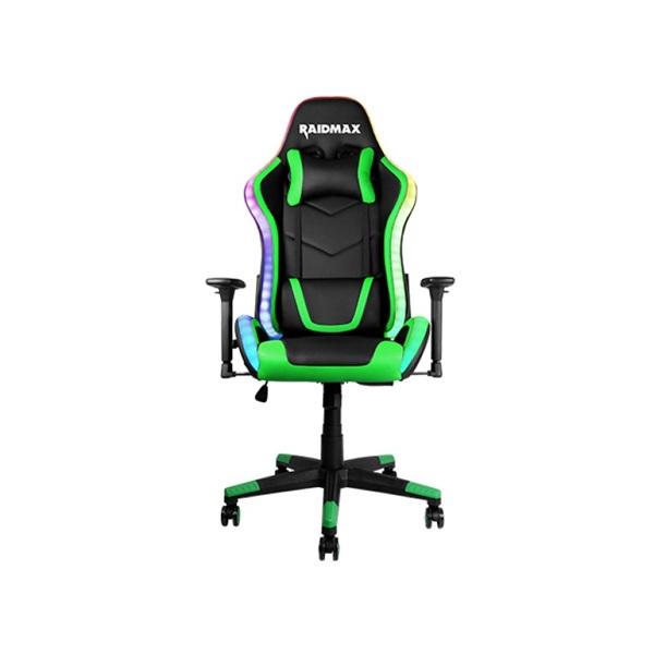 RAIDMAX Drakon DK925 fekete / zöld ARGB gamer szék - 1