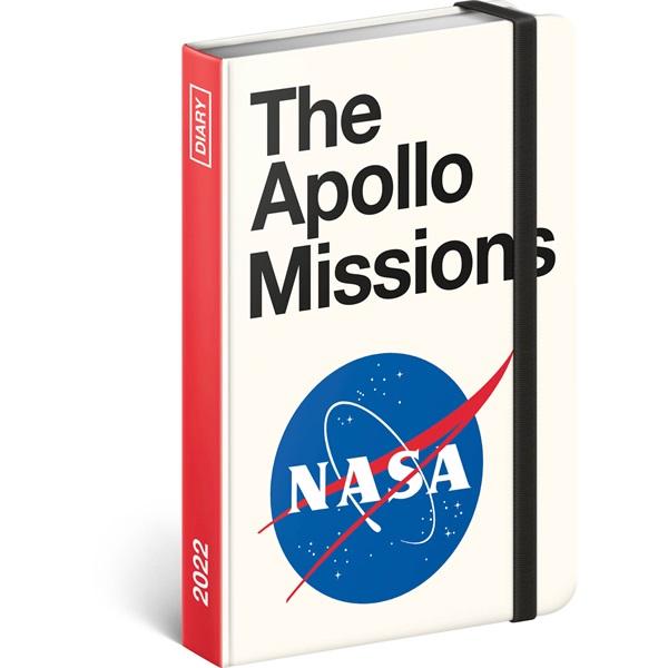 Realsystem 2022-es NASA 5812-AP álló keménytáblás gumiszalagos zsebnaptár - 1