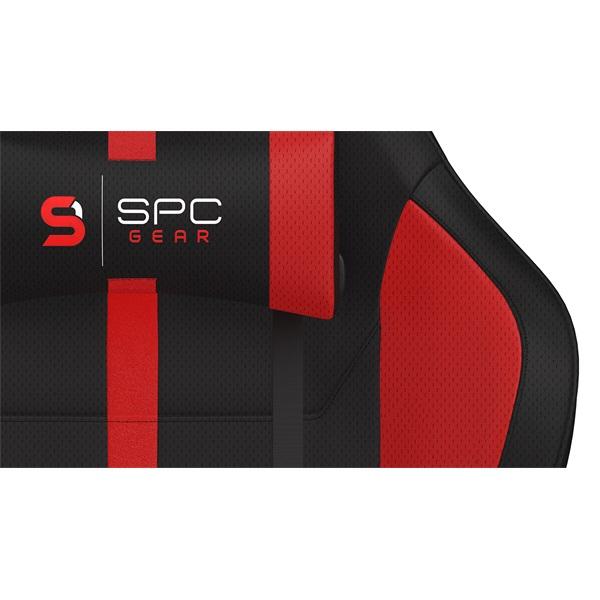 SPC Gear SR400F fekete / piros gamer szék - 7
