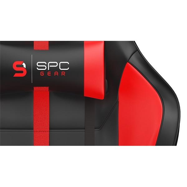 SPC Gear SR400 fekete / piros gamer szék - 5