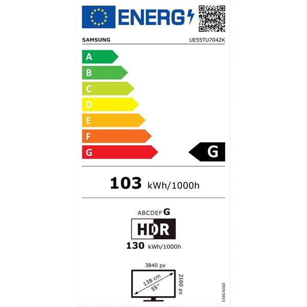 "Samsung 55"" UE55TU7042KXXH 4K UHD Smart LED TV - 3"