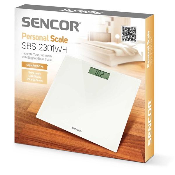 Sencor SBS 2301WH fehér személymérleg - 8