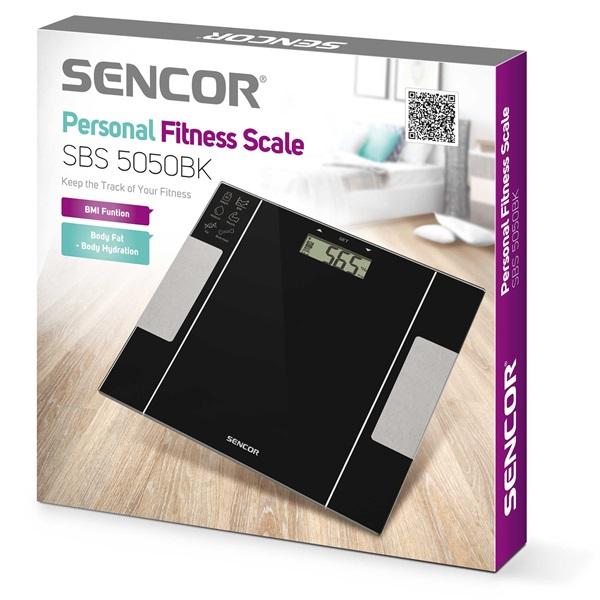 Sencor SBS 5050BK fekete fitnesz személymérleg - 8