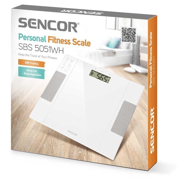 Sencor SBS 5051WH fehér fitnesz személymérleg - 7