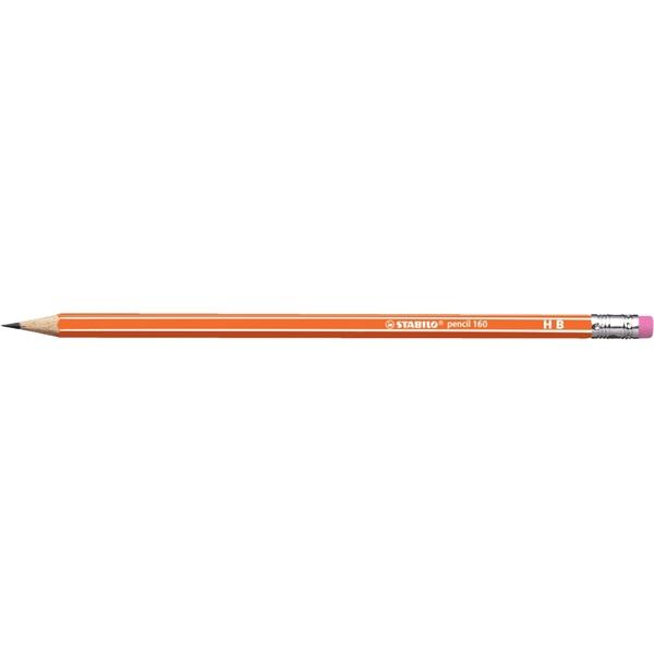 Stabilo 160 HB radíros narancssárga grafitceruza - 1