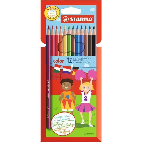 Stabilo 1912/77 12db-os vegyes színű színes ceruza - 1