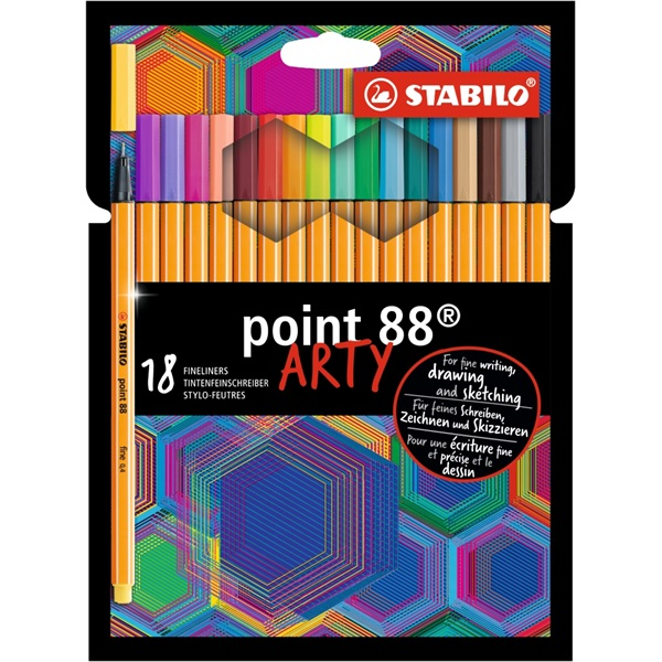 Stabilo ARTY Point 88 18db-os vegyes színű tűfilc készlet - 1