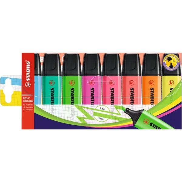 Stabilo Boss 8db-os vegyes színű szövegkiemelő - 1