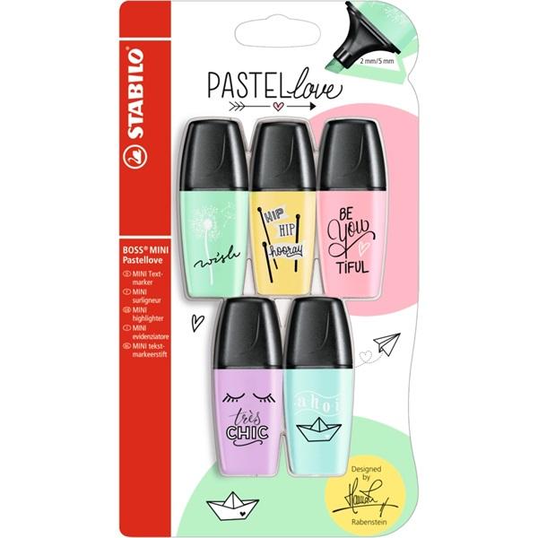 Stabilo Boss Mini Pastellove 5db-os vegyes színű szövegkiemelő - 1