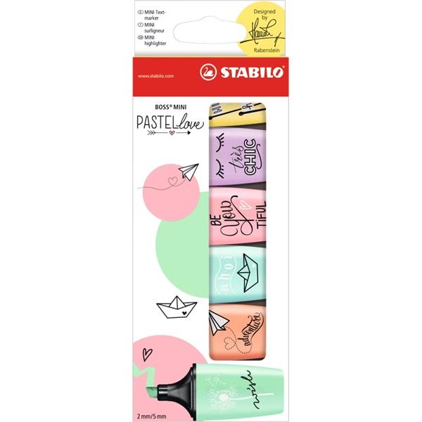 Stabilo Boss Mini Pastellove 6db-os vegyes színű szövegkiemelő - 1