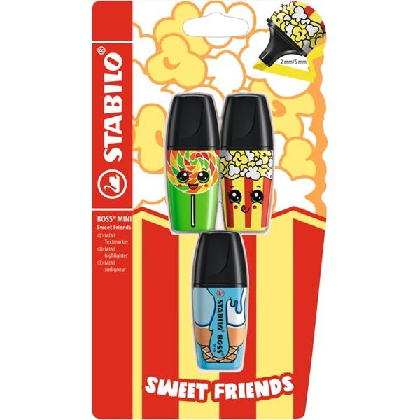 Stabilo Boss Mini Sweet Friend 3db-os vegyes színű szövegkiemelő - 1