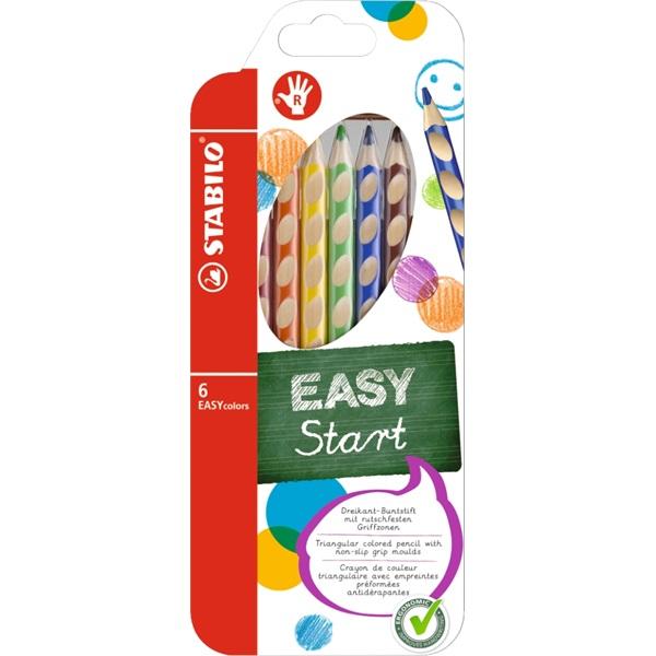 Stabilo Easy jobbkezes 6db-os vegyes színű színes ceruza - 1