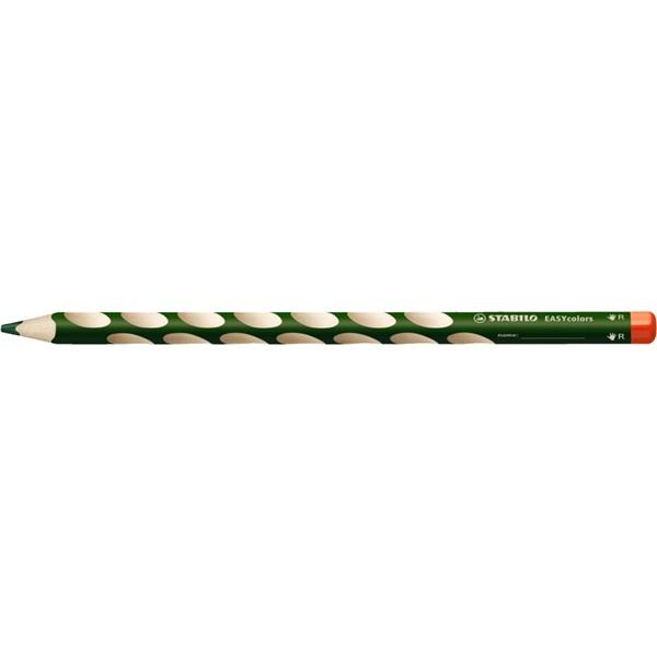 Stabilo Easy jobbkezes zöld színes ceruza - 1