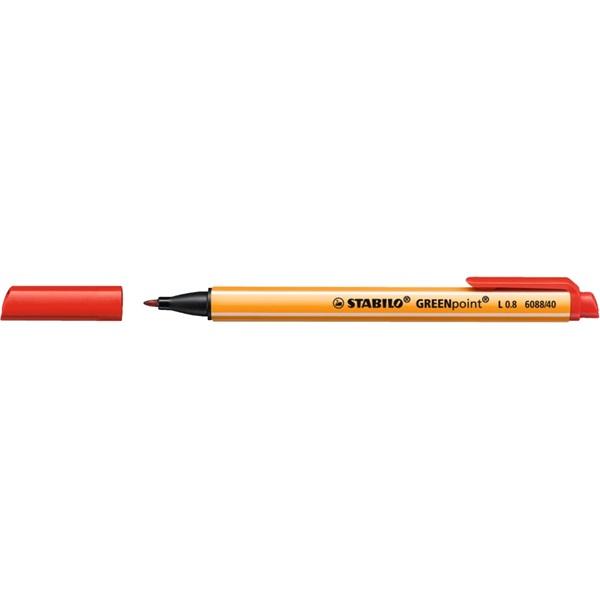 Stabilo Greenpoint piros filctoll - 1