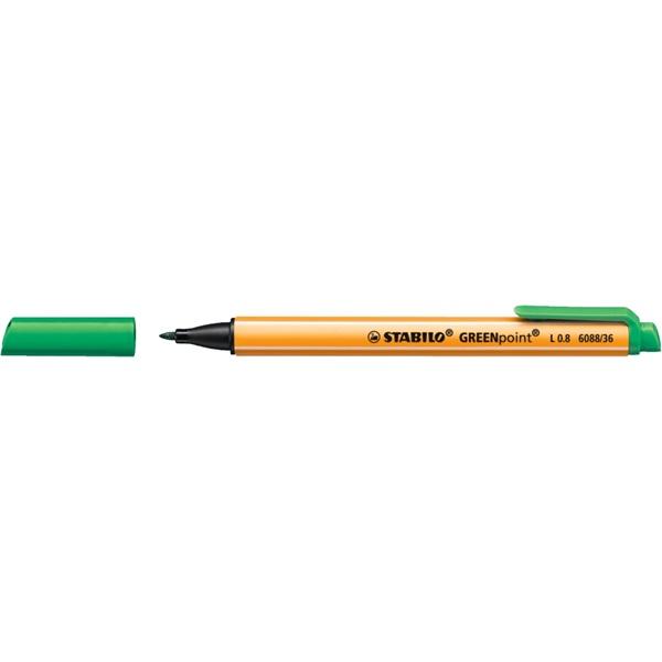 Stabilo Greenpoint zöld filctoll - 1