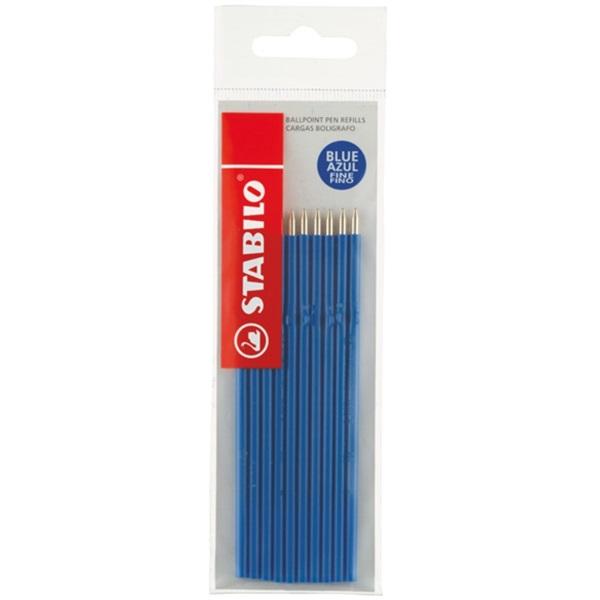 Stabilo Liner 10db-os kék golyóstoll betét - 1