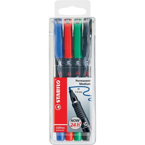 Stabilo OHPen 841 M 4db-os vegyes színű permanent marker készlet - 1