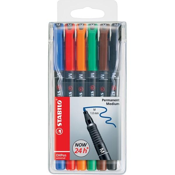 Stabilo OHPen 841 M 6db-os vegyes színű permanent marker készlet - 1