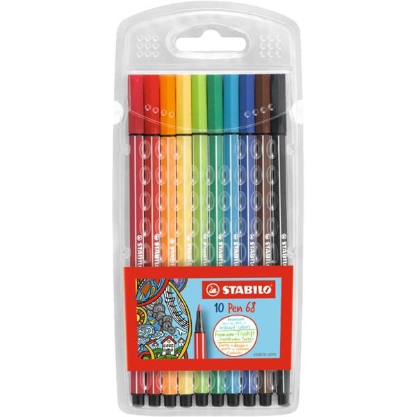 Stabilo Pen 68 10db-os vegyes színű rostirón készlet - 1
