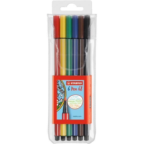 Stabilo Pen 68 6db-os vegyes színű rostirón készlet - 1