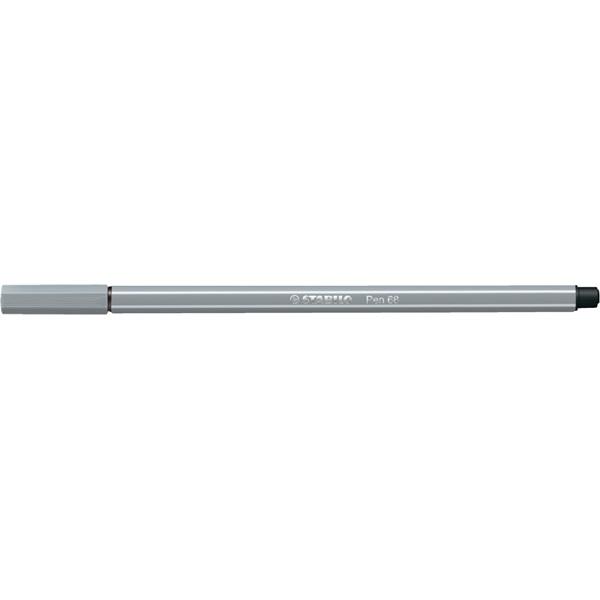 Stabilo Pen 68/95 középszürke rostirón - 2