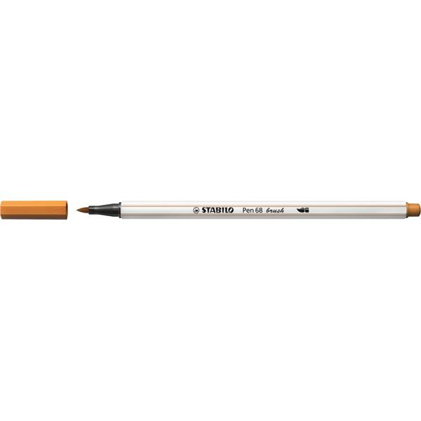 Stabilo Pen 68 brush okkersárga ecsetfilc - 2