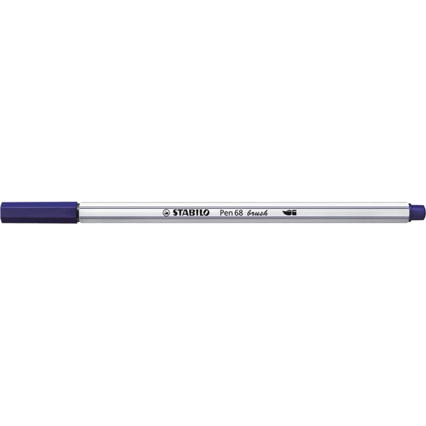 Stabilo Pen 68 brush sötétkék ecsetfilc - 2