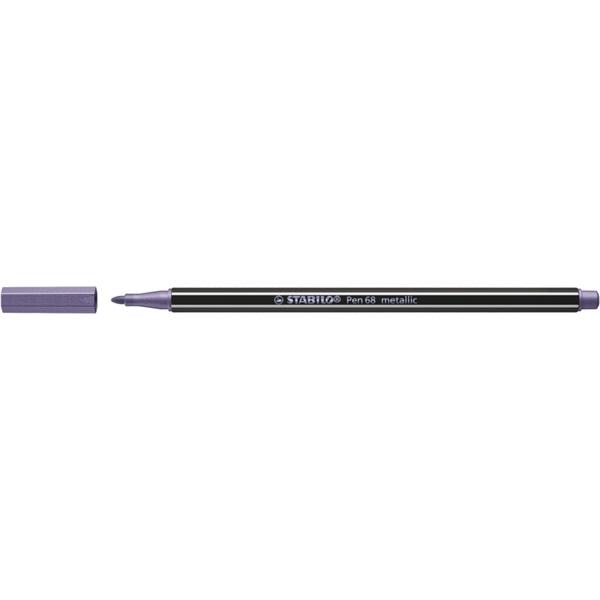 Stabilo Pen 68 metallic metál lila filctoll - 1