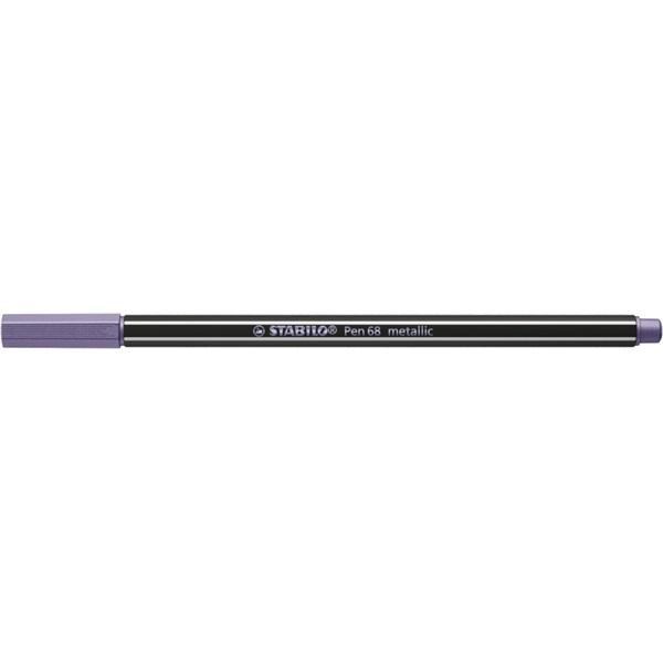 Stabilo Pen 68 metallic metál lila filctoll - 2