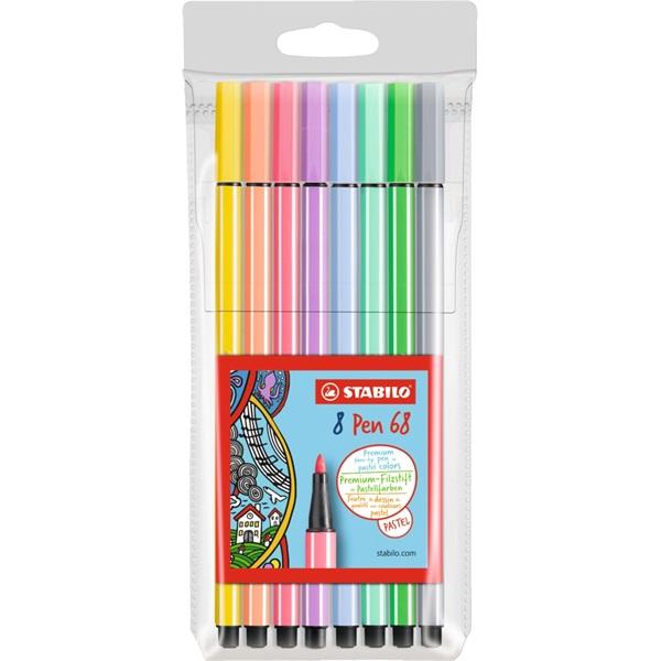 Stabilo Pen 68 pasztell 8db-os vegyes színű filctoll készlet - 1