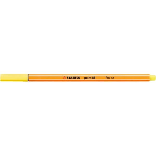 Stabilo Point 88/24 citromsárga tűfilc - 1