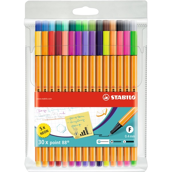 Stabilo Point 88 30db-os vegyes színű tűfilc készlet - 1