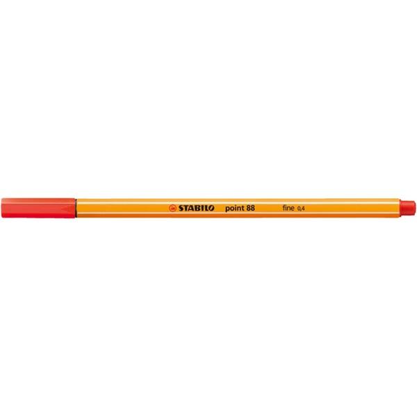 Stabilo Point 88/48 világos piros tűfilc - 2