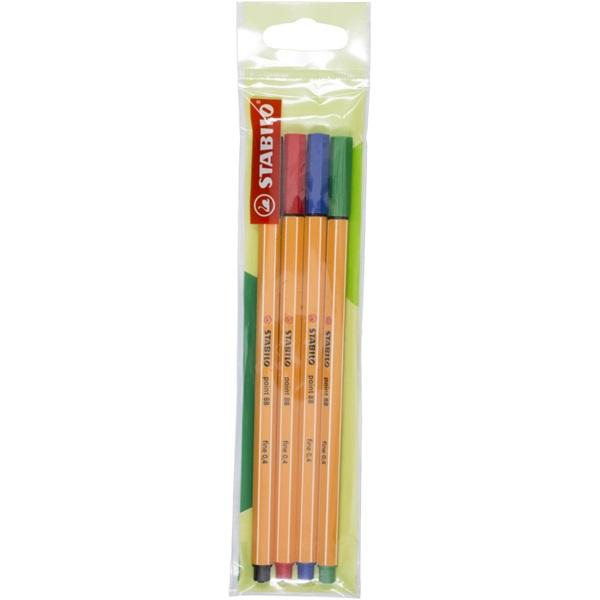 Stabilo Point 88 4db-os vegyes színű tűfilc készlet - 1