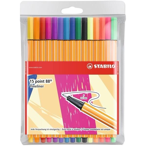 Stabilo Point 88 Individual 10+5db-os vegyes színű tűfilc készlet - 7