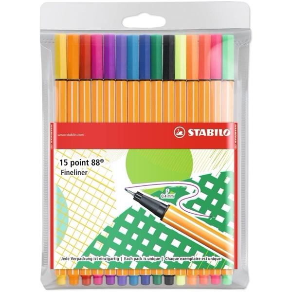 Stabilo Point 88 Individual 10+5db-os vegyes színű tűfilc készlet - 8
