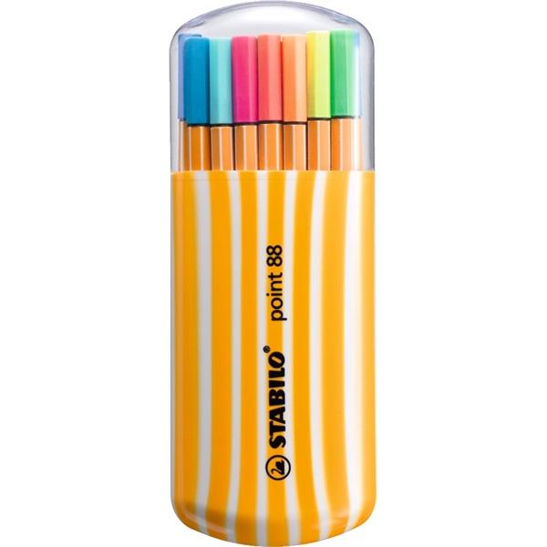 Stabilo Point 88 Zebrui neon 15+5db-os vegyes színű tűfilc készlet - 1