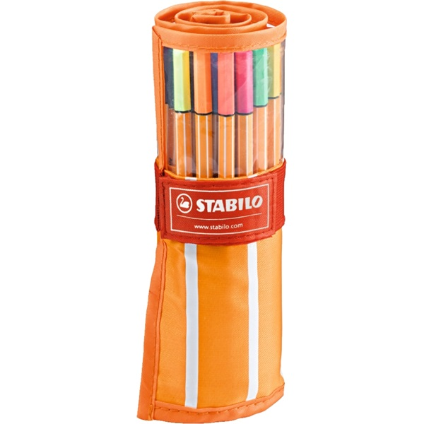 Stabilo Point neon neon 25+5db-os vegyes színű tűfilc készlet - 1