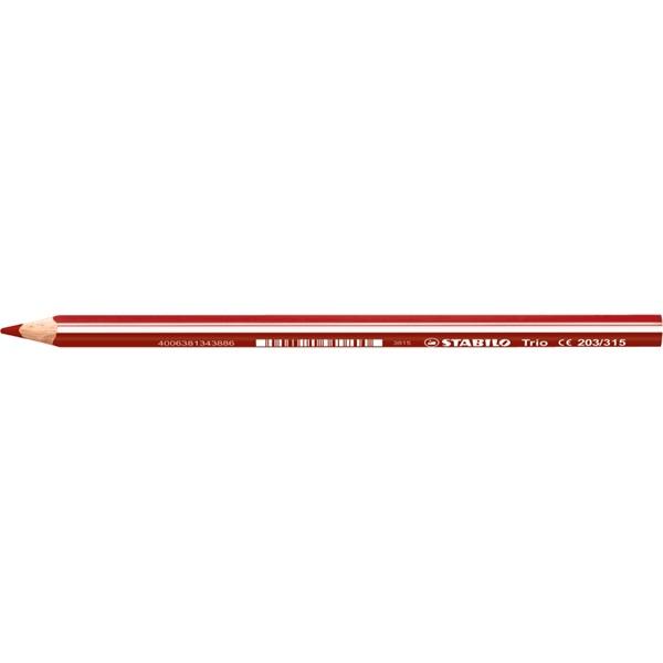 Stabilo Trio cseresznye piros színes ceruza - 1