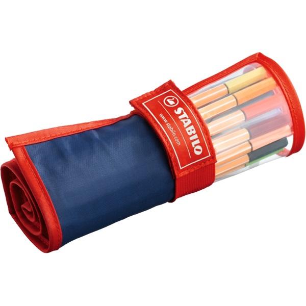 Stabilo point 88 textil tartós 25db-os vegyes színű tűfilc készlet - 1