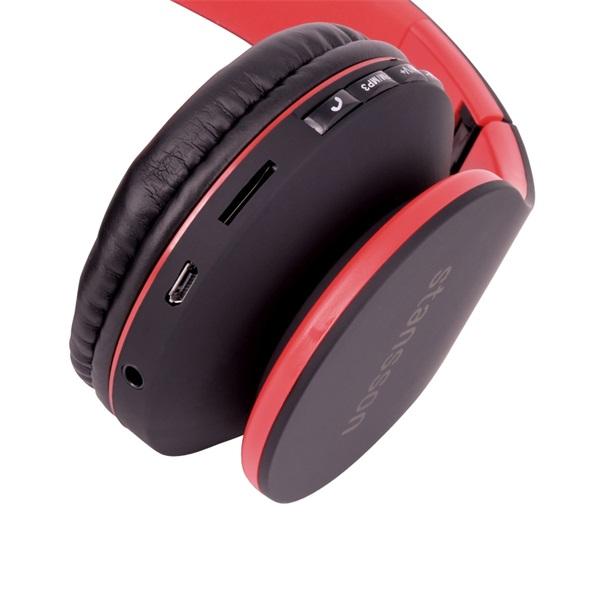 Stansson BHC203BR Bluetooth fekete-piros headset - 3