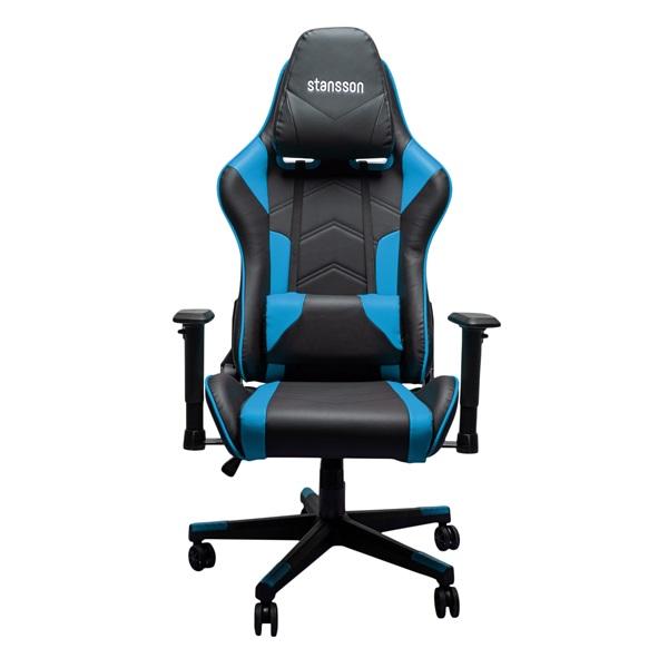 Stansson UCE602BK fekete-kék gamer szék - 1