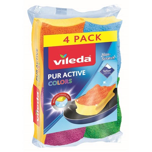 Vileda Color Pur Active mosogatószivacs 3+1 db-os - 1