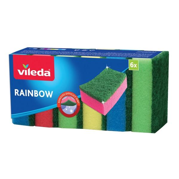Vileda Rainbow mosogatószivacs 6 db-os - 1